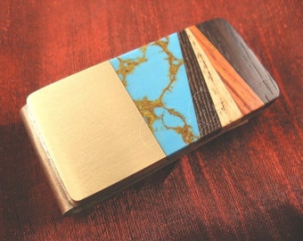 Fathers Day Gift from Wife, Inlaid Money Clip for Father Gift from Wife 625mcR7