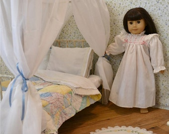 American Girl Canopy Bed Canopy Doll Bed Victorian Antique Iron Bed Metal 18 Inch Canopy Doll Bed