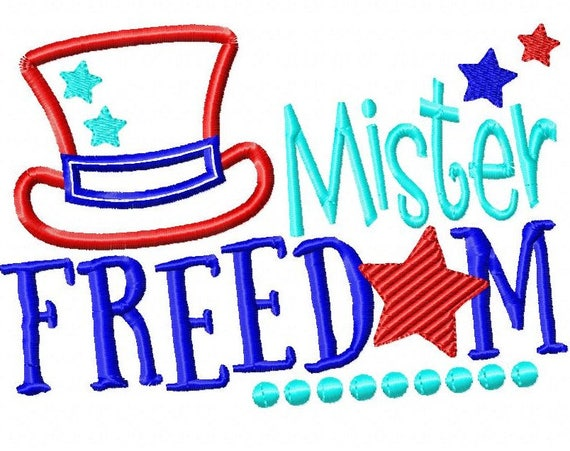 SAMPLE SALE, Mister Freedom - Girls 4th of July Shirt - Boys 4th of July Shirt - Kids Patriotic Shirt - Independence Day Shirt