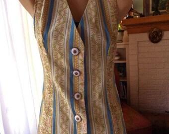 Women's Vest Brocade Vest Ladies Long Vest