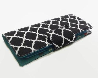 Womens Card Wallet, Credit Card Holder, Credit Card Organizer, Credit Card Wallet, Black wallet, Teal Wallet, Card Wallet