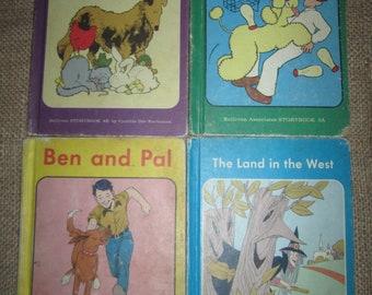 Lot 4 Vintage Sullivan Associates Storybook Reader Land in the West, The Milkman