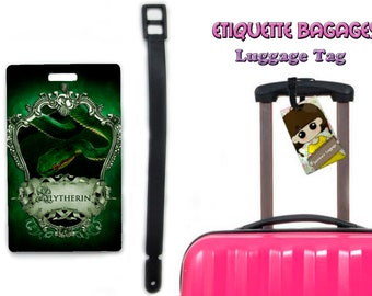 harry potter slytherin-  #1-041 - luggage tag name