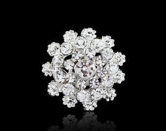 10 pcs Bridal Invitations Crystal Rhinestone,Wedding Diamante Brooch Embellishments, Wedding Cake Brooch Wedding Wholesale, diy Suppy Ab069