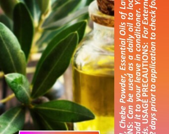Chébé Olive oil - Chebe Powder  infused into Olive Oil plus with Essential Oils added