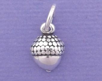 ACORN Charm .925 Sterling Silver, MINIATURE Small - elp20005