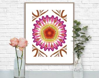 Bali 4 Digital Print • Kaleidoscope Mandala Bright Island Pattern • Instant Download • Home Decor Wall Art • Printable Poster Artwork