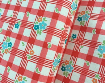 Tablecloth in Red Cotton Fabric from the Road Trip Collection by Riley Blake