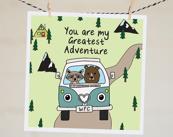 Anniversary Card For Wife | You Are My Greatest Adventure | Funny Valentine Card For Boyfriend | Funny Valentines Day Card Personalised Card