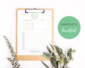 Digital daily planner printable