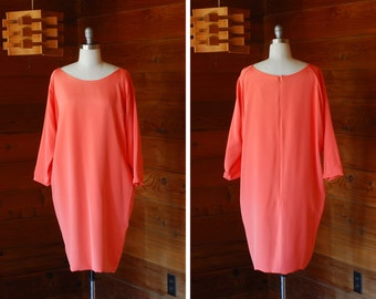 vintage Mark Heister pink silk cocoon dress / size medium