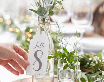 Wedding Table Number 1 - 12, Rustic Wedding Table Decor