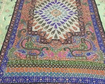Kalamkari pashmina embroidered shawl