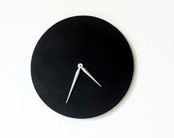 Large Wood Clock, Black Wall Clock, Decor and Housewares, Home and Living