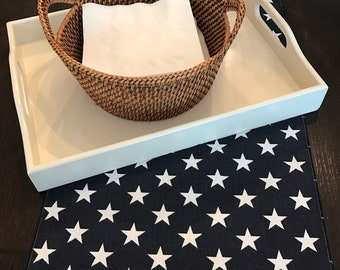 Patriotic Placemat | 4th of July Placemat | Wedding Centerpiece | Summer Placemat | Star Placemat | Table Square Wedding Shower Event Home