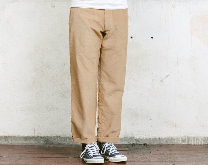 Hugo Boss Corduroy Trousers . Mens Vintage Cord Pants Nerd Pants Boyfriend Gift Hipster Pants . size Medium M