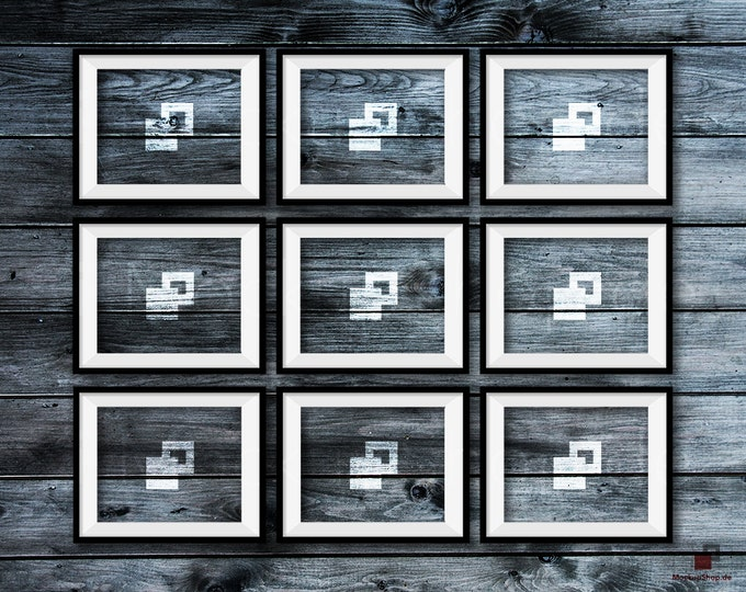 BLACK FRAME MOCKUP, 8x10, Set of 9, Empty Mockup Frame, Black Frame Mock-Up, Digital Frame Mockup for download, Frame Mockup, Download File