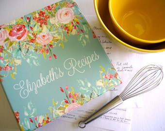 Personalized Sweeping Blooms Recipe Binder