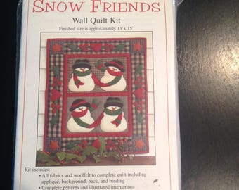 Snow Friends Wall Quilt Kit
