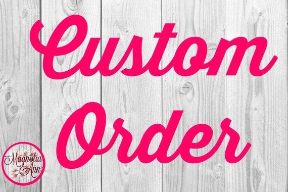 Custom Listing for Courtney