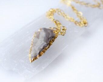 Gold arrowhead necklace