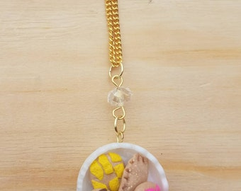 Conchas and empanada platter necklace