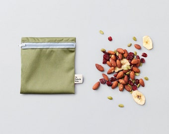 Custom trio ~ small reusable snack bags ~ Reusable snack and sandwich zipper bags