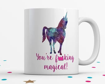 Mature, Galaxy Unicorn, Unicorn Coffee Mug, Unicorn Lover Gift, Funny Coffee Mug, Unicorn Gift for Her, Unicorn Coffee Cup