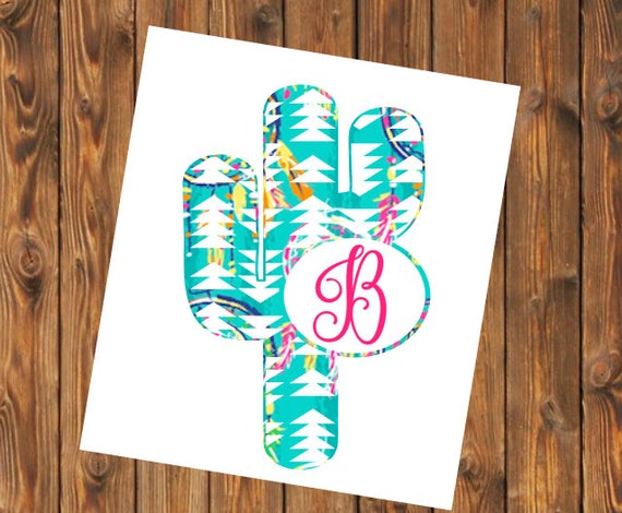 Free Shipping-Cactus Cacti Dream catcher Personalized decal, Turquoise Pink Native Indian Dreamcatcher Yeti RTIC SIC tumbler decal sticker