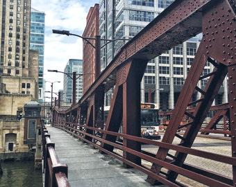 Chicago Bridge, Bridges, America, Chicago Photography, City Photography, Urban Art, Chicago Architecture, Chicago Wall Art, Chicago Prints