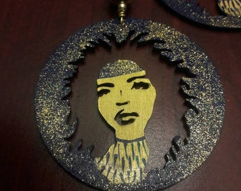 Midnight Star Afro Queen earrings