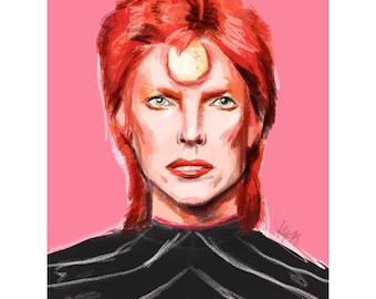 Bowie impression numérique - Ziggy Stardust
