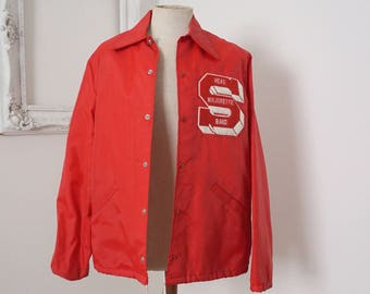 Vintage 1960s Seabreeze High School Marching Band Windbreaker with Majorette Letter S