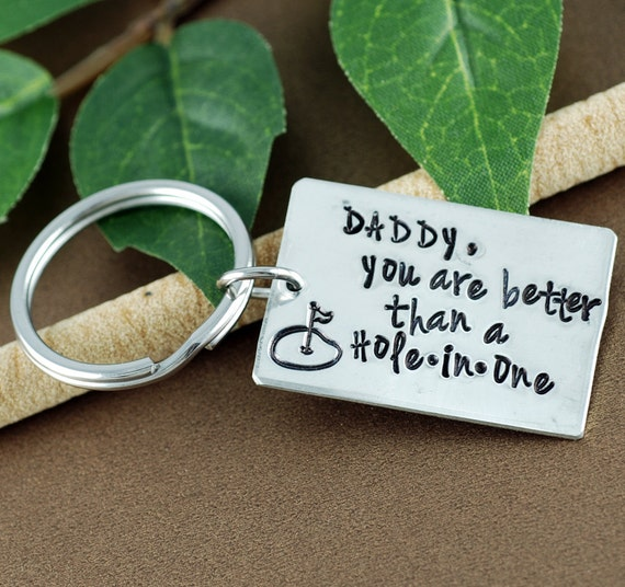 Golf Dad Keychain | Father's Day Keychain | Gift for Dad | Daddy Keychain |  Golf Keychain | Gift for Him | Dad Gifts | Hole In One Keychain