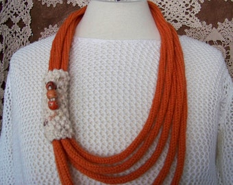 Collar knit to knitting (pumpkin) 5 laps #700