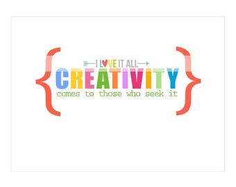 TEACHER GIFT . Creativity Wall Art Print, Art Classroom Decor, Teacher Gift, Thank You Teacher, Teacher Appreciation, Teacher Printable