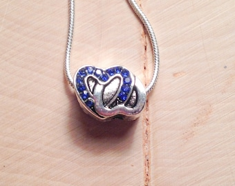 2 of Hearts rhinestone necklace