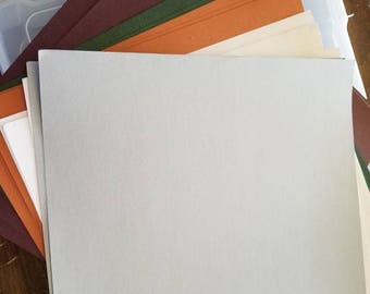 Set of 17 metallic papers - great for scrapbooking, mixed media, cards, etc.