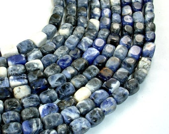 Sodalite Beads, Nugget, 6 x 9 mm, 15.5 Inch, Full strand, Approx 44 beads, Hole 1 mm (411047003)