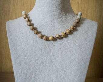 Jasper Knotted Necklace