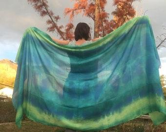 Dance Veil  The Ocean Green