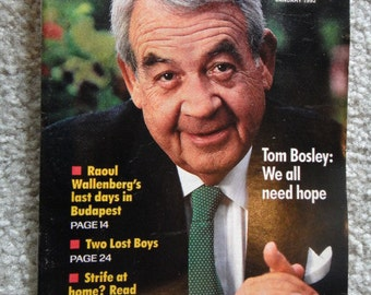Vintage Small Booklet Guidepost Tom Bosley Vintage Magazine Vintage 1992 Magazine
