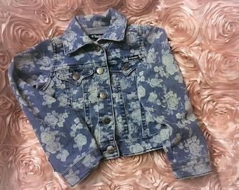 vintage Denim Jean Jacket for little girls, Jean Jacket for little girls , Blue Jean Jacket, Blue Coat, Denim Jacket  Size 6T-7T
