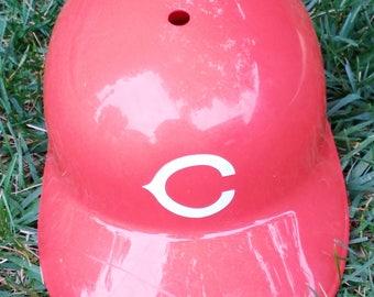 1970's Cincinnati Reds Baseball Batting Helmet Full Size Cincinnati Reds Batting Helmet - Free Shipping - TK4568