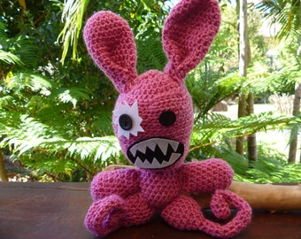 Bad Bunny crocheted monster
