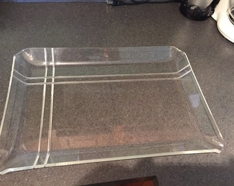 Vintage Lucite Tray