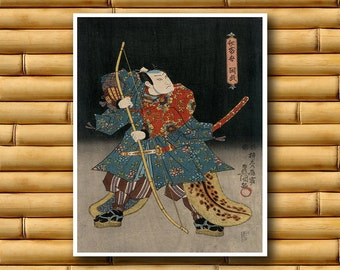 Japanese Decor Asian Art Print Retro Poster (J14)
