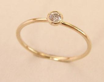 Gold Diamond Ring, Round Diamond Ring, Diamond Gold Ring, Simple Diamond Ring, Gold Engagement Ring, Engagement Diamond Ring, 14k Gold Ring