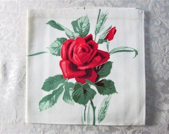 Vintage Wilendur Tablecloth MWT Table Cloth Napkins American Beauty Rose Roses Red White Floral Table Linens Vintage Kitchen Linens MINT BOX