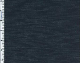 Muted Navy Poly Rayon Slub Jersey Knit, Fabric By The Yard